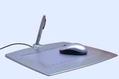 Pen tablet. Photo of designer pen tablet Stock Images