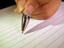 Pen ter beschikking op papier royalty-vrije stock afbeelding