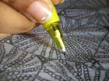 Pen ter beschikking: Tekening stock foto's
