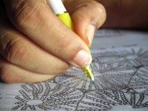 Pen ter beschikking: Tekening Stock Afbeelding