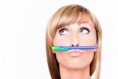 Pen think Stock Photos