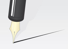 Pen Tip. Pen close up making a straight line Stock Photography
