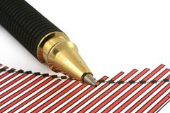 Pen tip and business chart #4 Royalty Free Stock Image