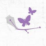 Pen tip design Royalty Free Stock Images