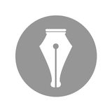 Pen tip design Royalty Free Stock Image