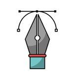 Pen tip vector illustration Stock Photos