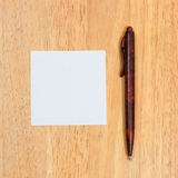 Pen to paper it. Stock Photo