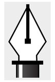 Pen tool. A symbol for  illustrations and drawings, especially vector files Stock Images