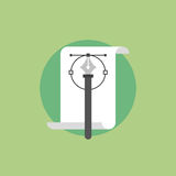 Pen tool flat icon illustration Stock Photo