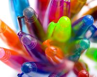 Pen tops Royalty Free Stock Photography