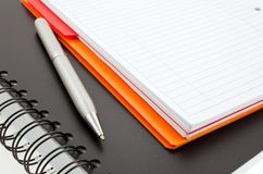 Pen and two paper notebooks royalty free stock image