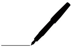 Pen. Vector file of isolated pen Stock Photography