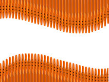 Pen wave-shaped - isolated on the white background. Pen wave-shaped isolated on the white background stock illustration
