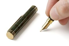 Pen on White Stock Image