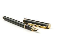 Pen on White. Close-up of a fountain pen isolated over a white background royalty free stock photo