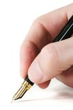 Pen on White. Close-up of a fountain pen isolated over a white background royalty free stock images