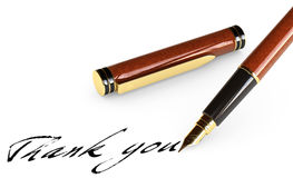 Pen on White. Elegant fountain pen isolated over a white background royalty free stock photography