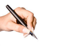 Pen on white Stock Photo