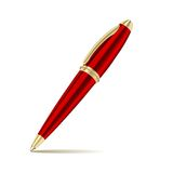 Pen on the white background royalty free illustration