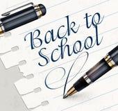 Pen on white sheet Royalty Free Stock Photos