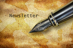 Pen and word Newsletter Stock Photography