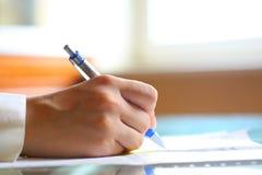 Pen  work hand Stock Images