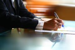 Pen  work hand Stock Photos