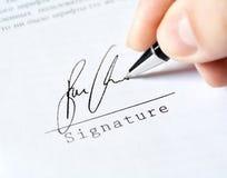 Pen work hand work signature stock photos