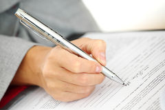 Pen write Royalty Free Stock Photo