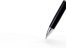 Pen writing Royalty Free Stock Images