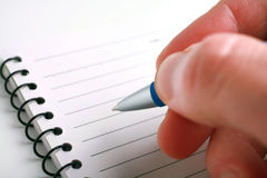 Pen writing Stock Images