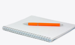 Pen on Writing-book Stock Photo