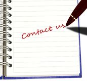 Pen writing Contact Us Stock Images