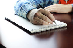 Pen writing hand student Stock Photography