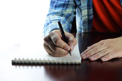Pen writing hand student Stock Images