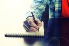 Pen writing hand student Royalty Free Stock Photo