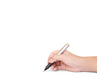 Pen writting something Stock Images