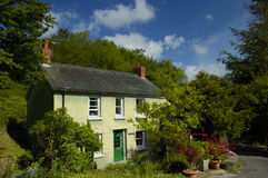 Pen-y-Bont. A country cottage, in rural Wales, under a summer sky Royalty Free Stock Photos