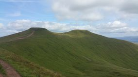 Pen y Fan and Corn Du Royalty Free Stock Images