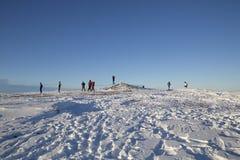 Pen y Fan mountain summit in winter Royalty Free Stock Photography