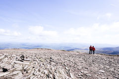 Pen Y Fan, on top of the mountain Stock Image