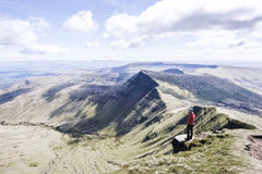 Pen Y Fan, on top of the mountain Stock Photography