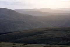 Pen Y Fan, a view from the top of the mountain in a sunny day Royalty Free Stock Image