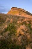 Pen-y-Ghent seen from Pennine Way over moor land  Stock Photography