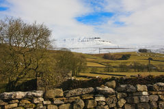 Pen-y-ghent after the snow Royalty Free Stock Photo