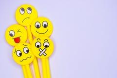 Emoji pen stock photos