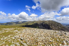 Pen Yr Ole Wen and the Carneddau mountain range Royalty Free Stock Photos
