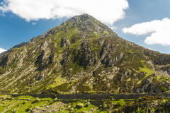 Pen yr Ole Wen mountain from Idwal Cottage. Stock Images