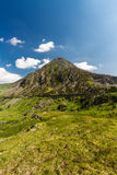 Pen yr Ole Wen mountain from Idwal Cottage. Royalty Free Stock Photos