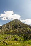 Pen yr Ole Wen mountain from Idwal Cottage. Royalty Free Stock Image